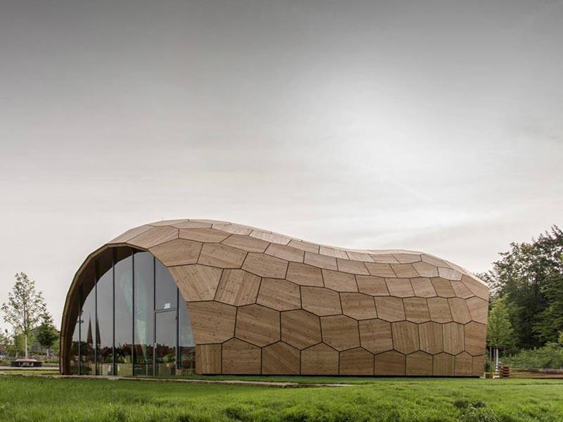The landesgartenschau exhibition hallinspirationist for Exterior research and design