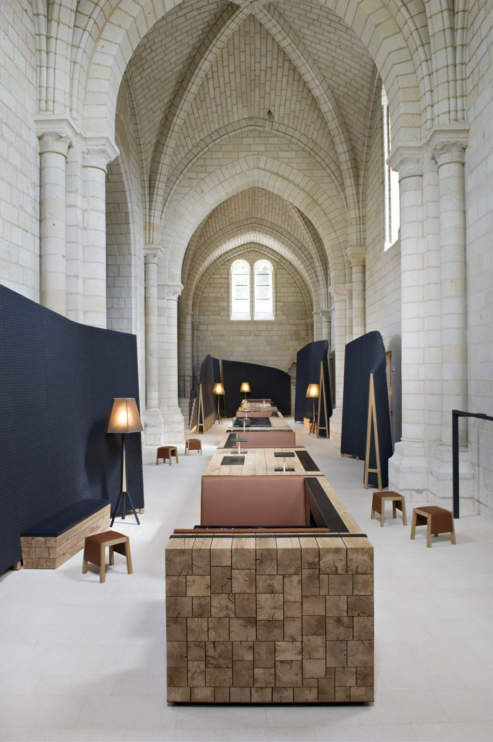 the abbaye de fontevraud hotel by patrick jouin sanjit. Black Bedroom Furniture Sets. Home Design Ideas
