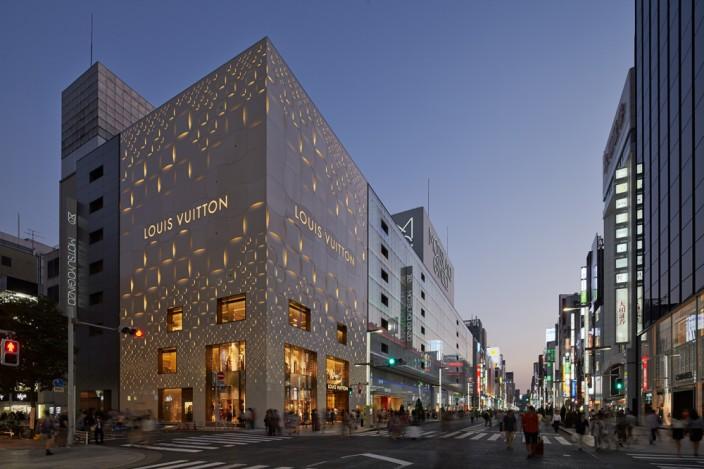 Ip Design An Art Deco Design Inspired Facade Louis Vuitton Matsuya