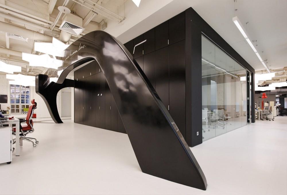 An Office Space As A Modern Art Gallery Leo Burnett Moscow By Nefa ArchitectsInspirationist