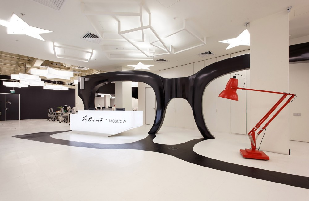 space as a modern art gallery leo burnett moscow by nefa architects