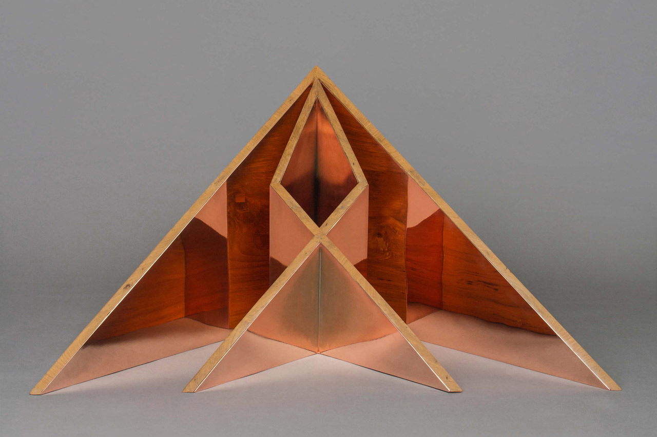 A collection of geometric furniture and decorative objects a collection of geometric furniture and decorative objects inspired by origami forms jeuxipadfo Choice Image
