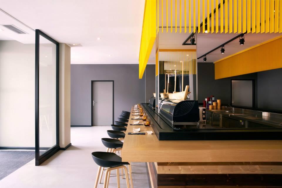 A modernist restaurant inspired by the japanese golden
