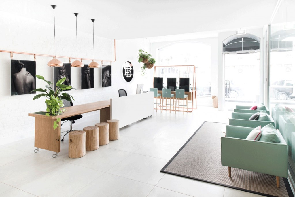 White Washed Timber And Accents Of Mint At Beauty EDU In