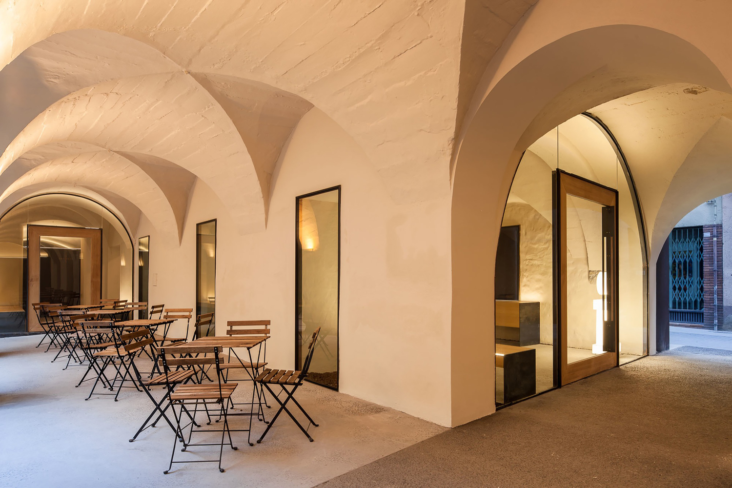 A Barrel Vault Hallway Turned Into Tourist Office