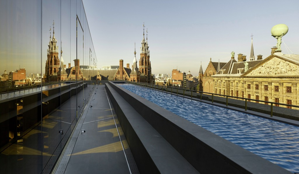 W hotel amsterdam a second life for a monumental building for Mr porter w hotel amsterdam