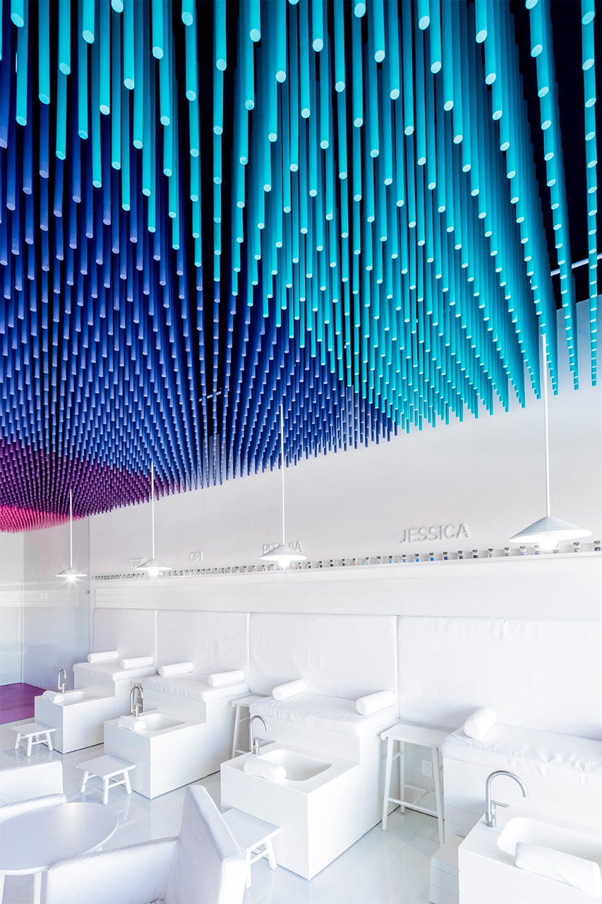 Nail It2 Features A Ceiling With Hanging Elements In