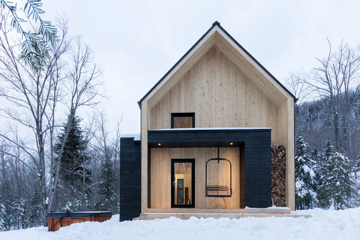 Villa bor ale is a clean lines scandinavian inspired for Modern barn design