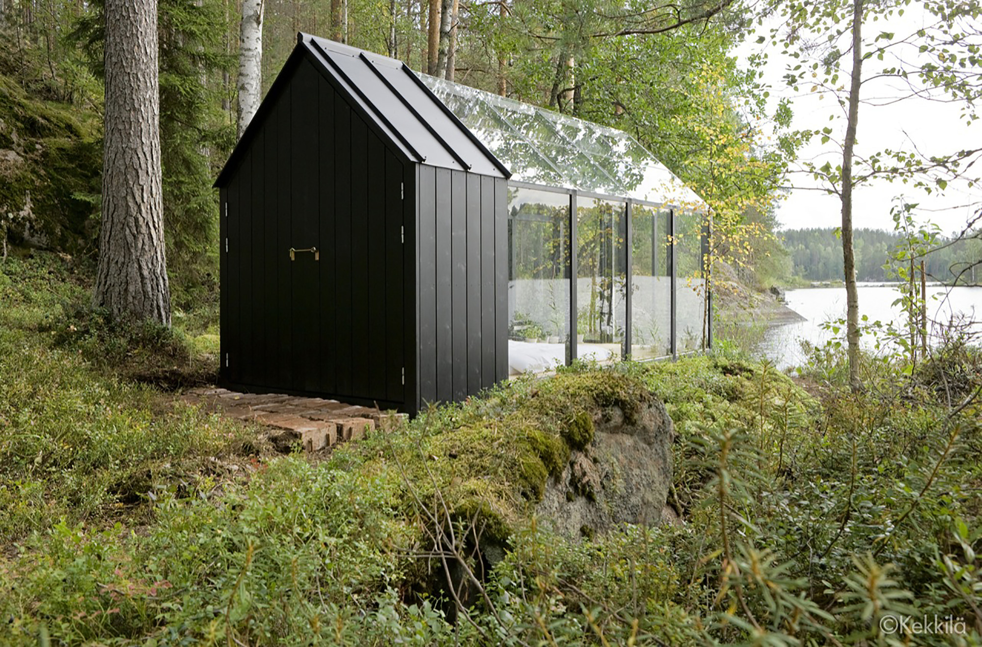 a unique combination of a traditional garden shed and a green house