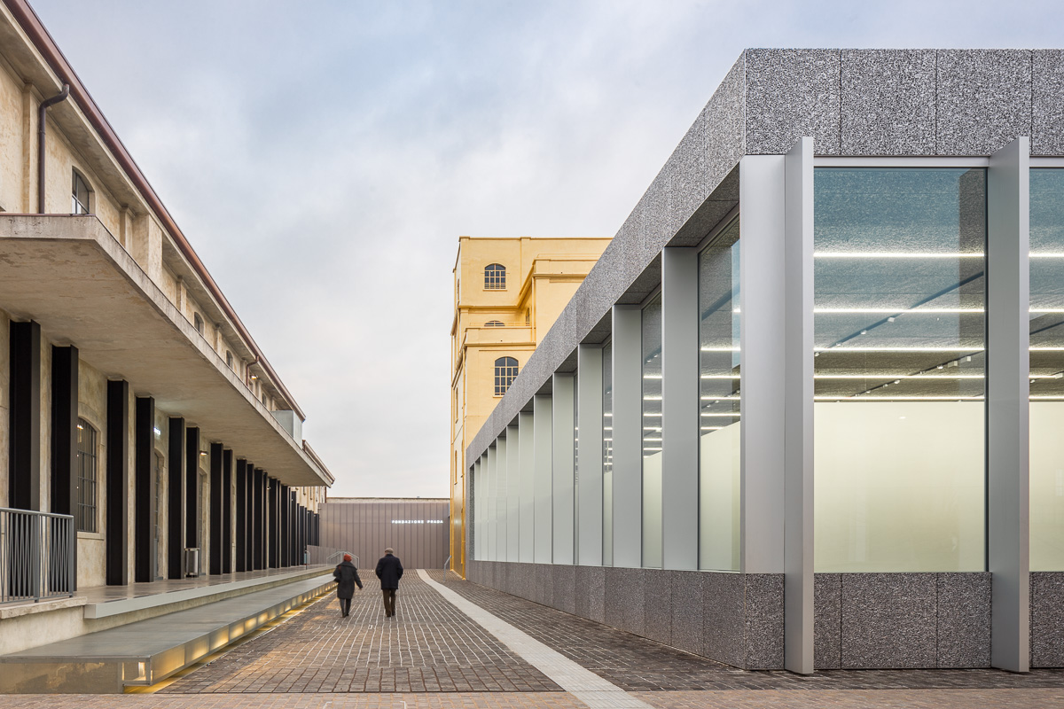 The new fondazione prada is a genuine collection of for Is architecture