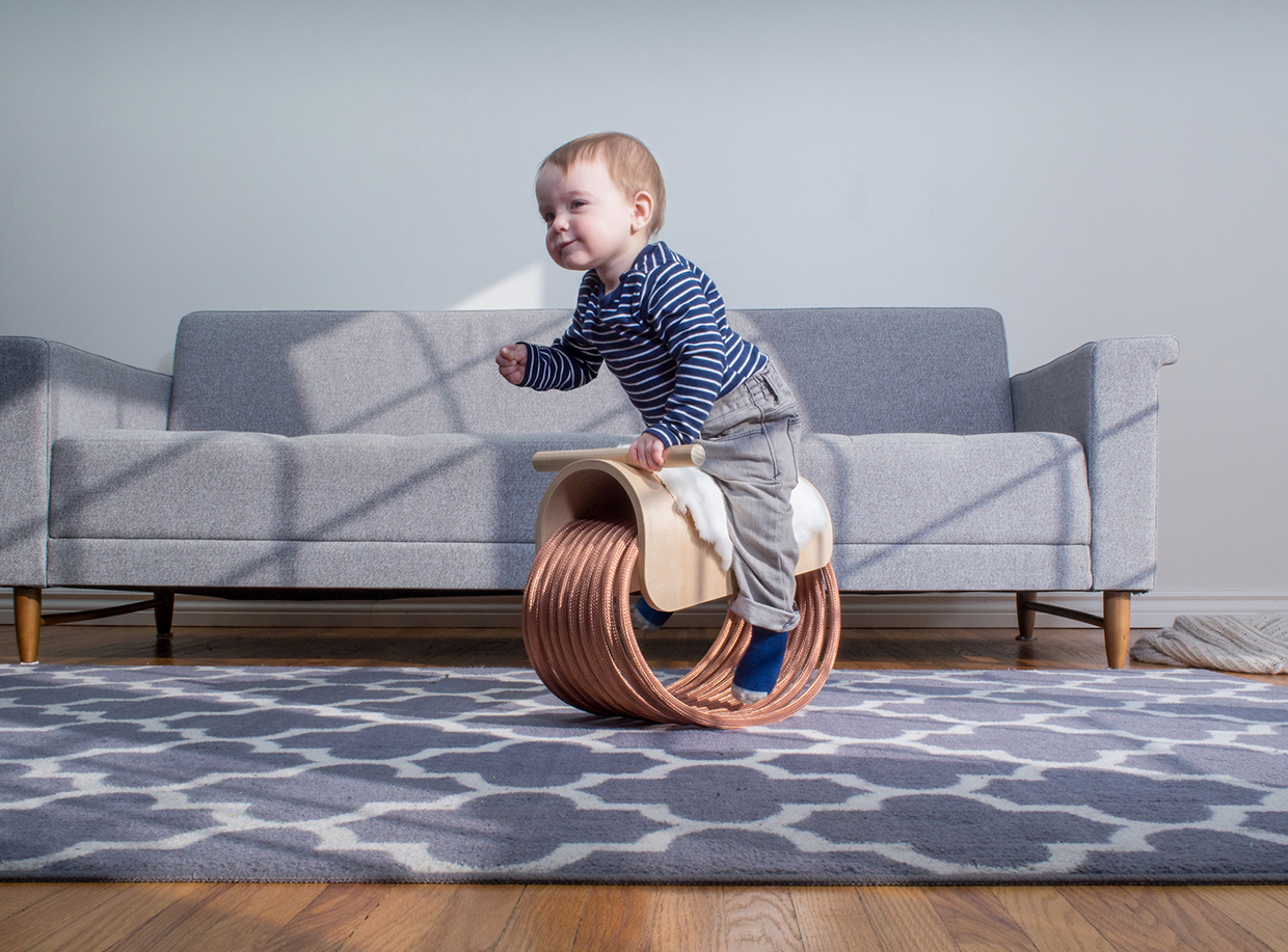 epona a rocking horse for the modern child  inspirationist -  fertility and protector of horses crafted from recycled copper cablehandfinished canadian maple wood and rabbit fur epona is an interactivepiece