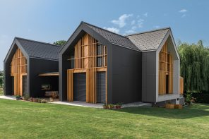 House XL's vertical wooden elements also function as sunscreens