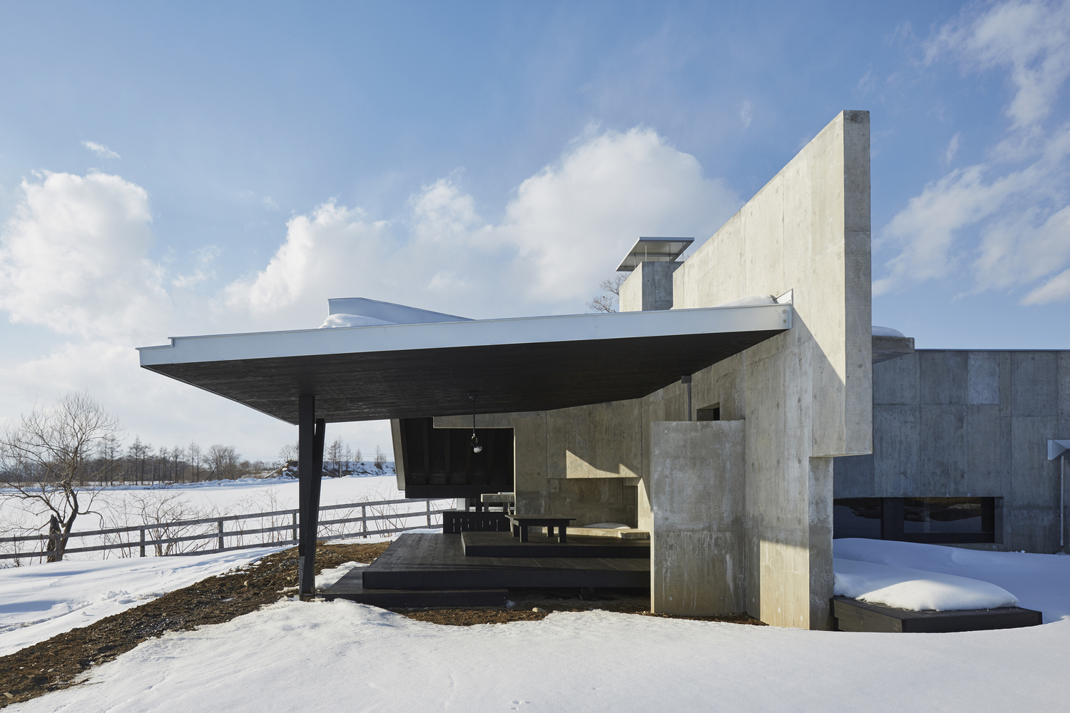 A house for enjoying the harsh cold inspirationist for Inverted house plans