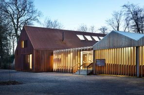 The 'NT Mottisfont Visitor Facilities' take cues from agricultural structures