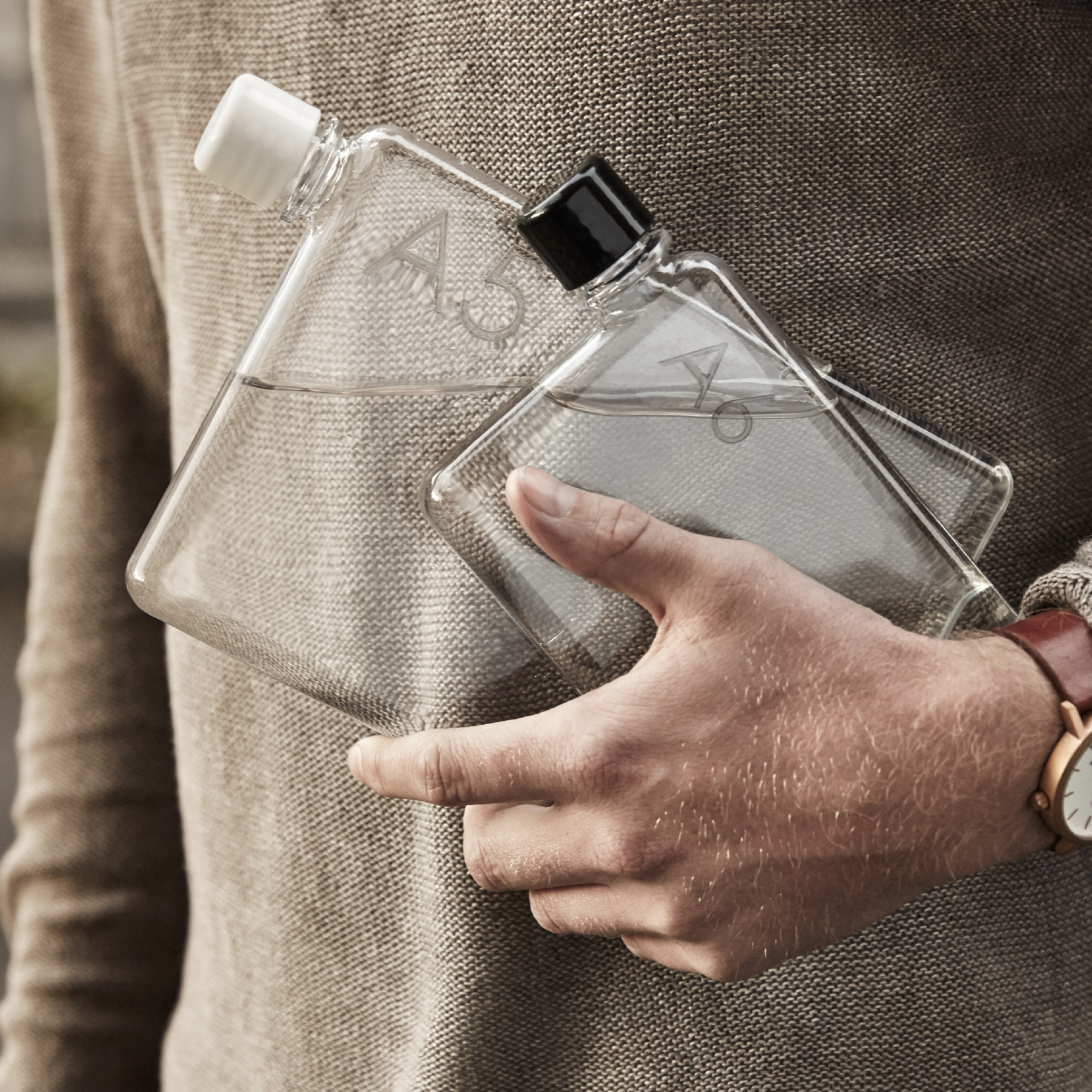 memobottle™ Slim Reusable Waterbottles. by Jesse Leeworthy