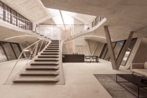 smartvoll Architekten create spatial dramaturgy for Panzerhalle loft