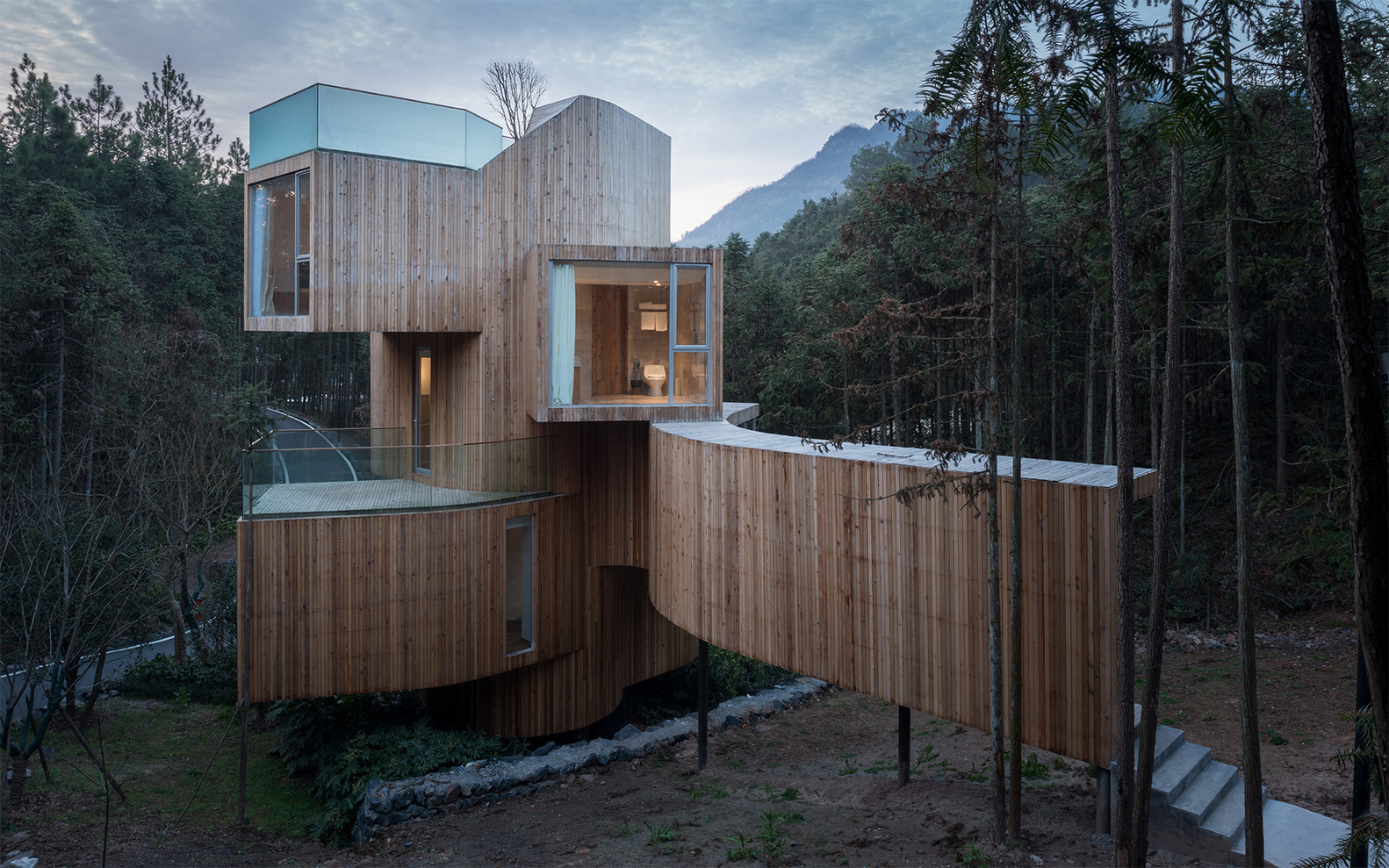 3_The Qiyun Mountain Tree House_Bengo Studio_Inspirationist