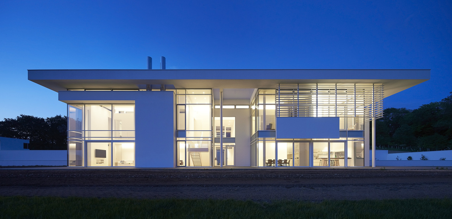 7_Oxfordshire Residence_Richard Meier & Partners_Inspirationist