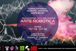 Arte Robotica V.01: Computational Robotic Painting Workshop by DesignMorphine