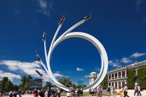 Gerry Judah's sculpture at the Goodwood Festival of Speed celebrates Bernie Ecclestone's career