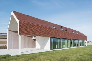A former Belgian farmhouse rebuilt into a low-energy residence