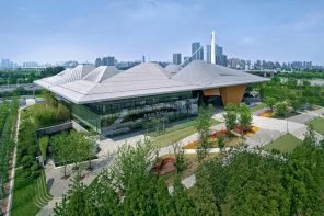 Nanjing Eco-Tec Exhibition Hall features dramatic roof-line symbolising neighbouring mountains