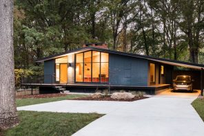 in situ studio renovate North Carolina 1960's, low-sloped ranch