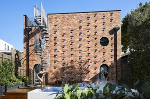Brickface combines recycled bricks with glazed ones for light and shadow