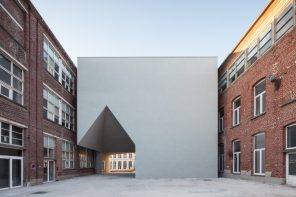 Aires Mateus-designed structure connects buildings of different identities and periods