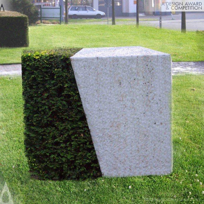 Stone Plant Sculpture