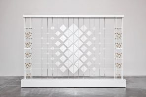 A geometric installation that plays with the transition between open and closed