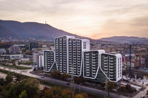 Lines and clear borders are blurred in smooth and soft forms for Sofia residential complex