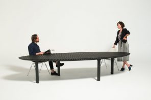 Friction Table changes its proportions and adapts to different spaces and functions