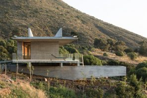 House H: a reinforced concrete structure levitating over a slope