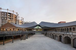 Heatherwick Studio reinvents two heritage rail buildings as new shopping district