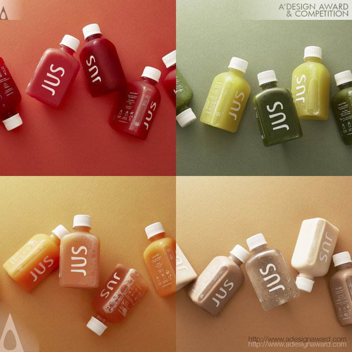 12_JUS Cold Pressed Juicery Drink Branding and Packaging by M — N Associates