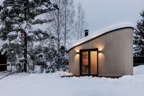 A modern view of a traditional Scandinavian BBQ house