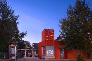 East Street Library's bright red extension suggest the new functions contained within