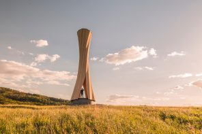 The Urbach Tower is made of wood that shapes entirely by itself