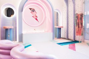 Wonder Galaxy: a daring walk-in closet reminiscent of an Austin Powers film