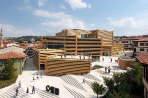 Kongo Kuma's Odunpazari Modern Art Museum evokes the site's former wood trading market function