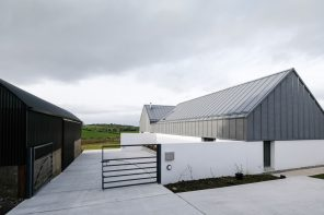 House Lessans' forms and materiality derive from the language of local agricultural outbuildings
