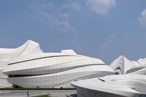 A culture and arts center with an organic architectural language defined by pedestrian routes