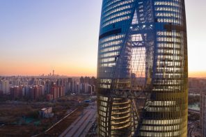 Leeza SOHO's atrium acts as a public square for the new Fengtai business district