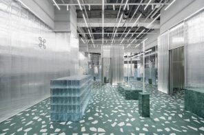 Geijoeng Concept Store's design explores the interactivity between materials and light transmission