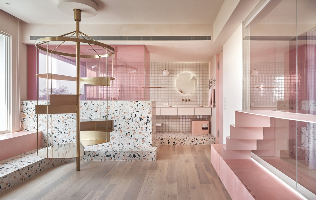 3_Cats' Pink House_KC Design Studio_Inspirationist