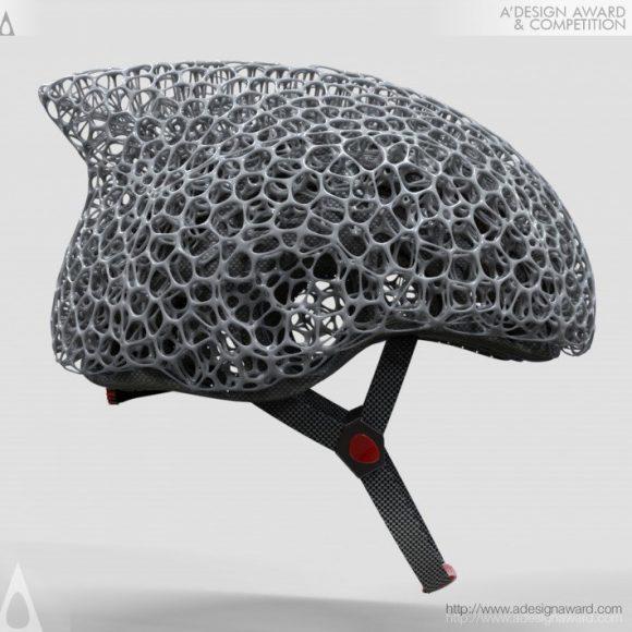 Voronoi Bicycle Helmet by Zhecheng Xu and Yuefeng Zhou
