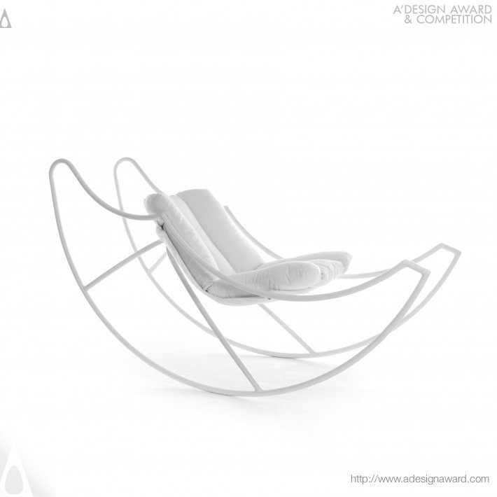 Moon's Wings Rocking Chair by Stefania Vola