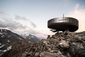 Ötzi Peak viewing platform: a detached, almost floating construction