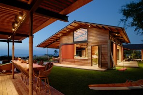 The Kahua Kuili Residence is a modern interpretation of the classic Hawai'i summer camp